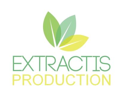 voici notre logo extraction production qui est présenté en visuel